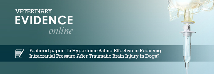 Is Hypertonic Saline Effective in Reducing Intracranial Pressure After Traumatic Brain Injury in Dogs?
