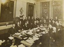 Photograph of members at Council meeting in 1902