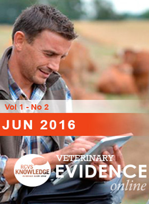 Veterinary Evidence second issue