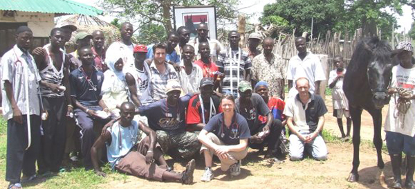 Trust grant holder in the Gambia