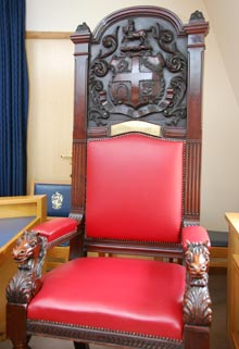 Image of the Presidential chair