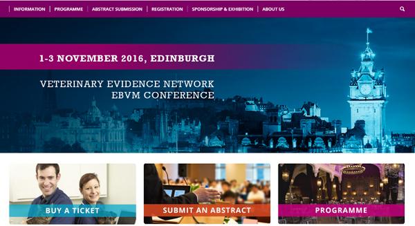 Homepage of VET2016 website