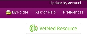 VetMed Resource Discovery advance search
