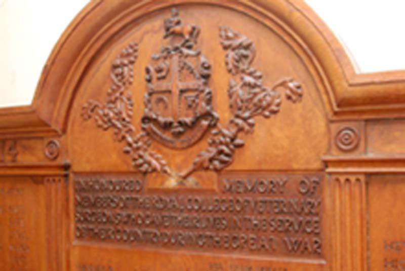 Photograph of World War One memorial