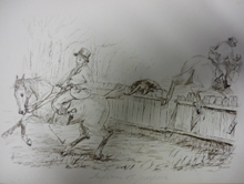 Roalfe Cox horse drawings of horses in confusion of purpose