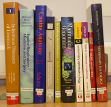 Photograph of books in the Library