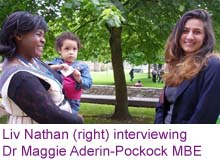Liv Nathan and Maggie Aderin-Pockock
