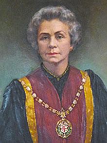 Portrait of Dame Olga Uvarov DBE FRCVS