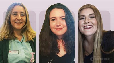 Student Award winners - Lauren Sweeney, Carla Husband and Abbie McMillan