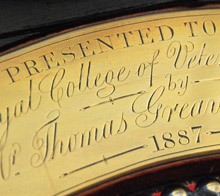 Inscription on President's chair