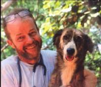 Paul Pollard, member of QIAB with a dog